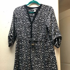 H & M dress black and white size 6